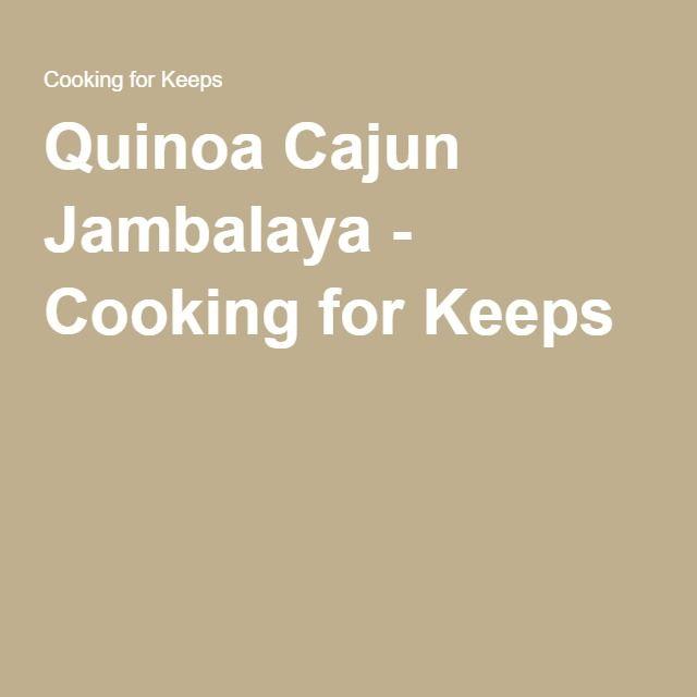 Quinoa Cajun Jambalaya - Cooking for Keeps