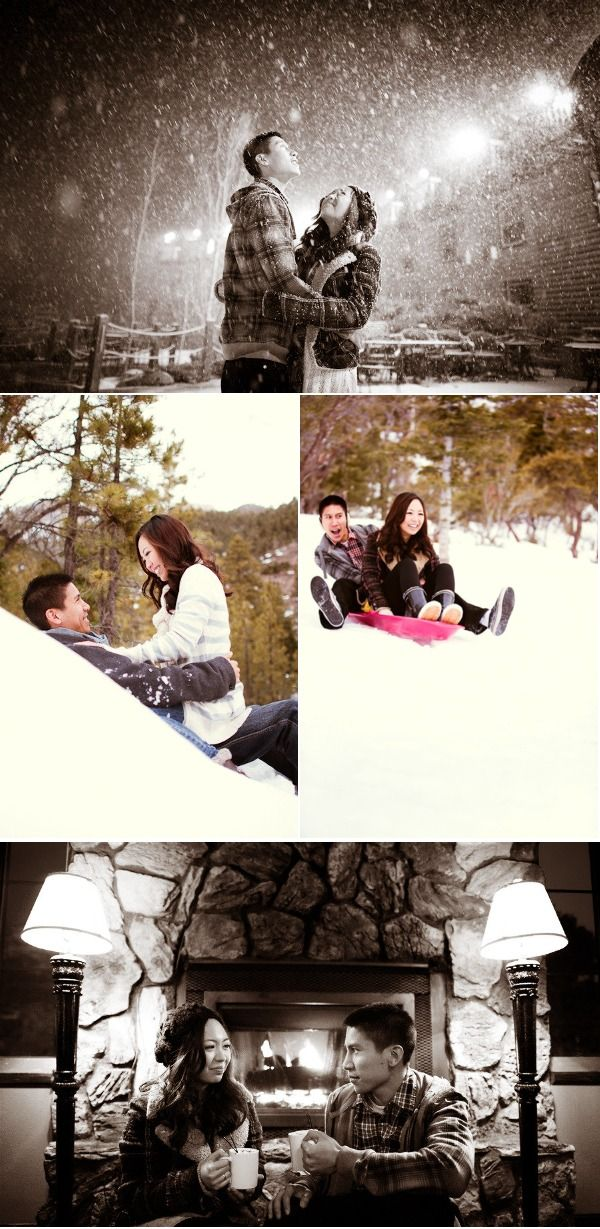 winter engagement photos - adorable!