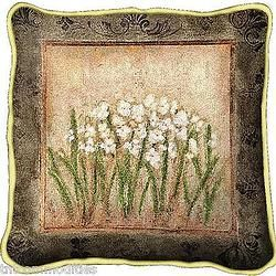 Narcissus Flowers Floral Art Tapestry Pillow
