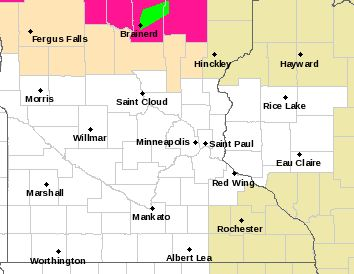 bad enough to be in a flood warning zone, but then to be surround by red flag warning (wild fire danger)