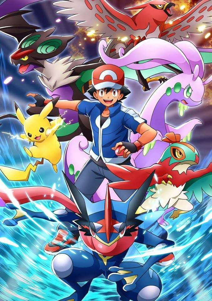 Ash Ketchum, Pikachu and his Pokemon from Kalos by WillDynamo55 on DeviantArt