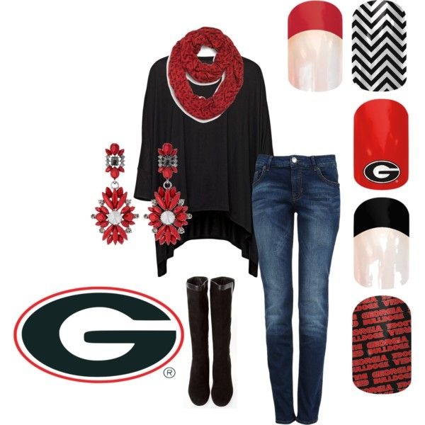 """Georgia Bulldogs Jamberry"" by jamieholland-1 on Polyvore"