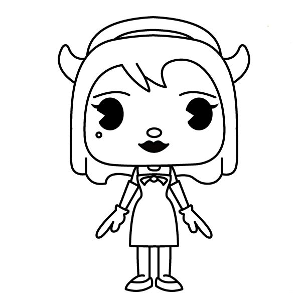 Bendy Coloring Pages Free Printable Coloring Pages At Di 2020