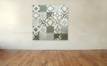 Concrete Tile - green, blue, gray ... modern colors for the home | arketype.us