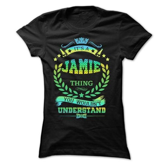IT IS A JAMIE THING  - #gifts for girl friends #monogrammed gift. ORDER NOW  => https://www.sunfrog.com/Names/IT-IS-A-JAMIE-THING--Ladies.html?60505
