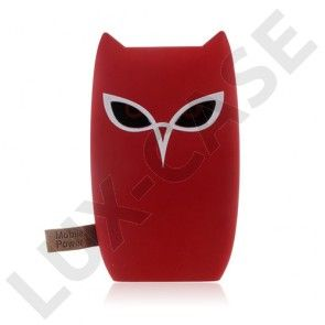 6600mAh Dobbelt USB Power Bank - Rød