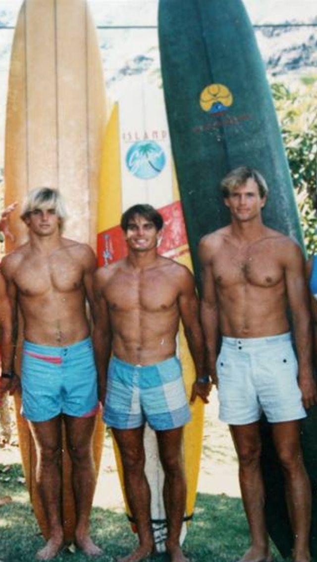 Vintage Surfers Laird Hamilton & Buzzy Kerbox