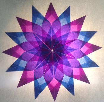 Sterne aus Transparentpapier