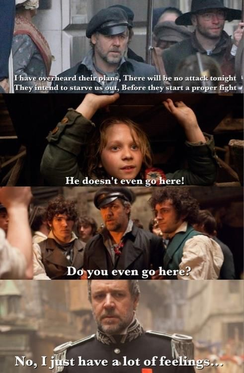 Les Miserables meets Mean Girls. Too funny  Y'all know what's sad? I have a…