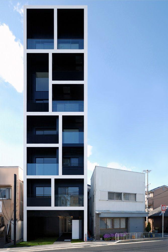 neat: Small Apartment, Condos Design, Japan Style, Spaces Save, Osaka Japan, Small Houses, Japan Architecture, Apartment Building, Mitsutomo Matsunami