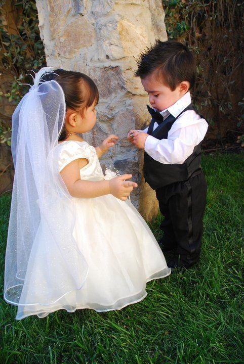 baby bride and groom, Mi EVENTO ATENAS