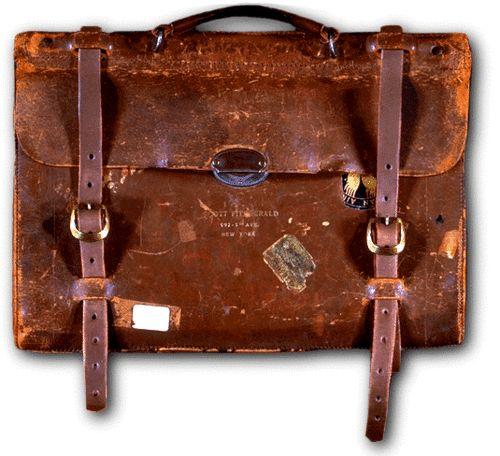 olympialetan:    F. Scott Fitzgerald's satchel.
