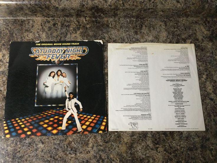 Saturday Night Fever ORIGINAL MOVIE SOUND TRACK Record Album Sleeve Bee Gees #Disco