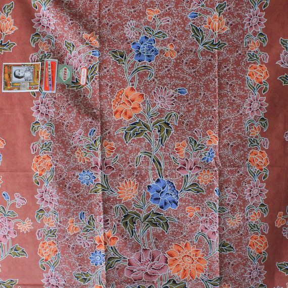 palevioletred flowers cotton traditional by TheThailand on Etsy