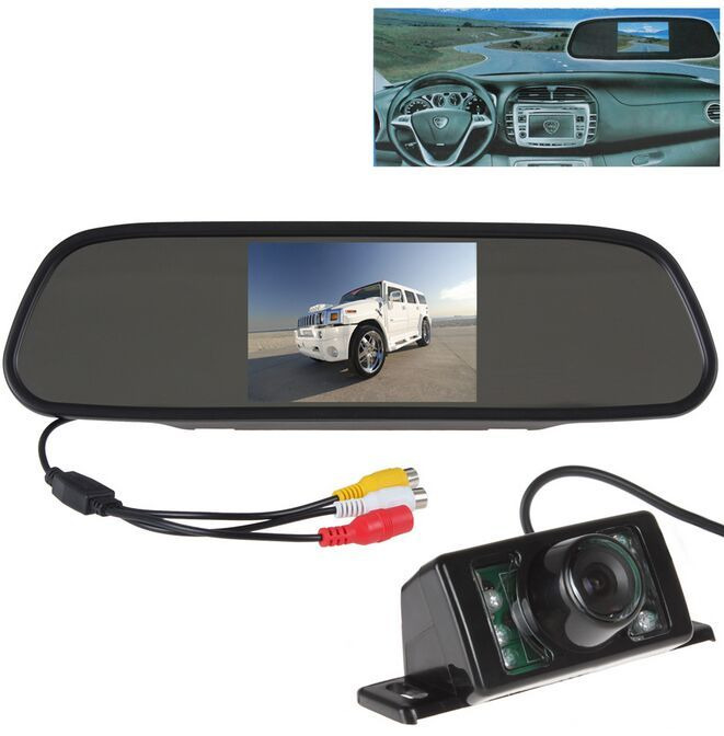 5 Inch Color TFT LCD Car Rear View Mirror Monitor Parking 7 IR Light Waterproof Car Rear view Reverse Camera RVC -204