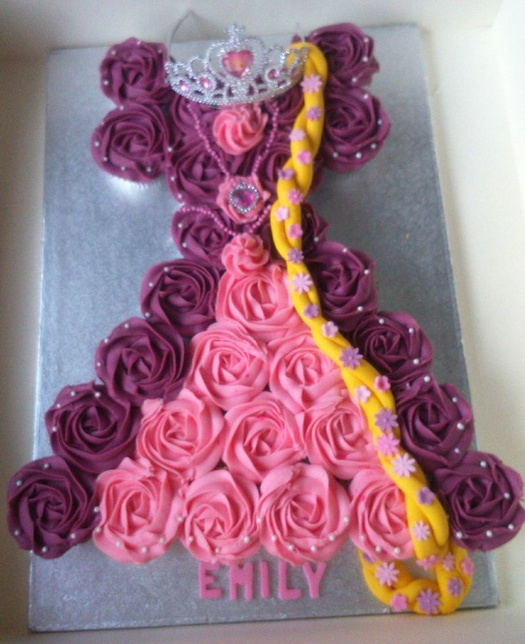 Dress Cupcake Cake Designs Best 25 Tangled Cupcakes Ideas On Pinterest