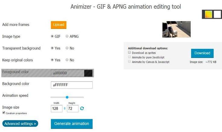 Animizer: 6 utilidades web para crear y editar animaciones GIF