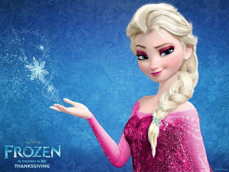 Elsa in pink dress ;) looks cute