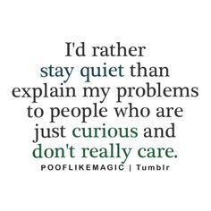 quiet people -