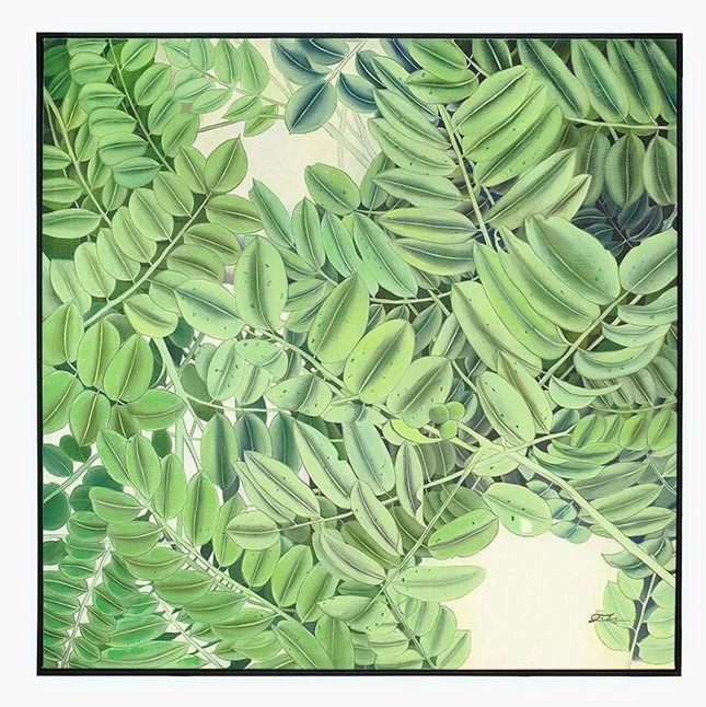 Quadro Folhas 100 x 100 cm | A Loja do Gato Preto | #alojadogatopreto | #shoponline | referência 58868807