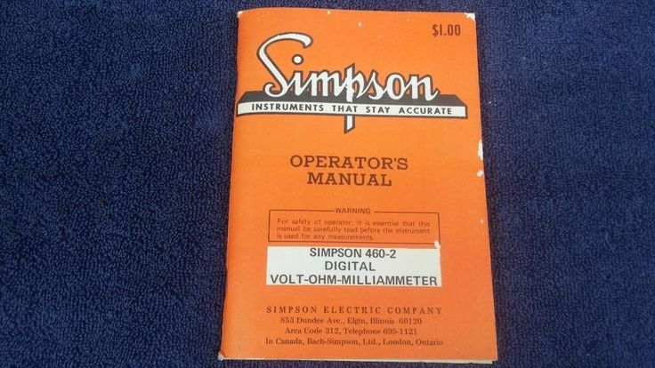 What Is Volt Ohm Milli Ammeter Vom Manual Guide
