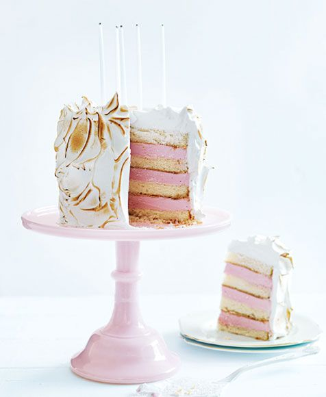Looking for kids birthday cakes? Check out these gorgeous birthday cake recipes from Donna Hay kids magazine, including this ice-cream Bombe Alaska cake.
