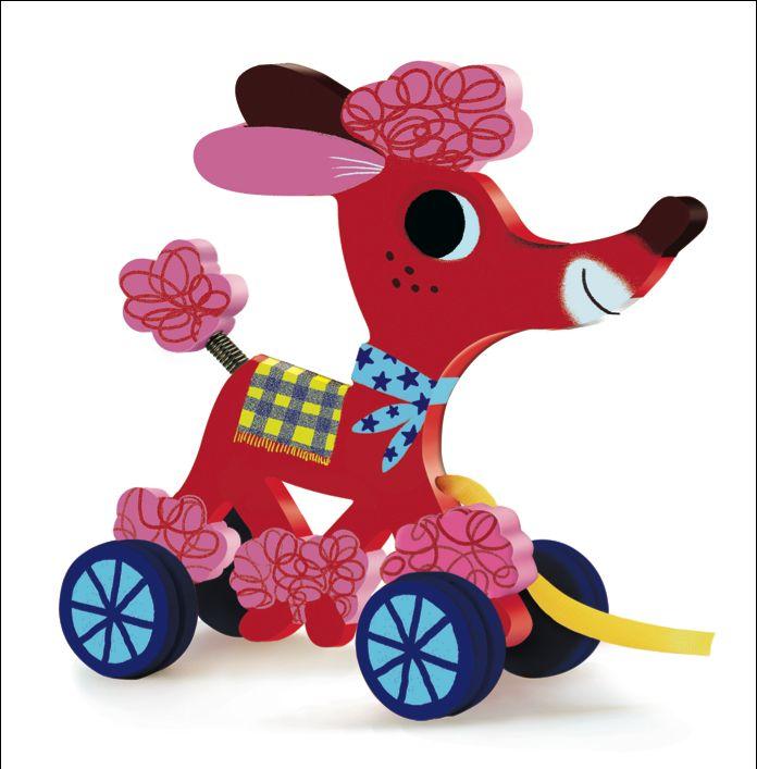 Little #Dog #Frizzy #Wood By #Djeco from www.kidsdinge.com https://www.facebook.com/pages/kidsdingecom-Origineel-speelgoed-hebbedingen-voor-hippe-kids/160122710686387?sk=wall #kidsdinge #Toys #kids
