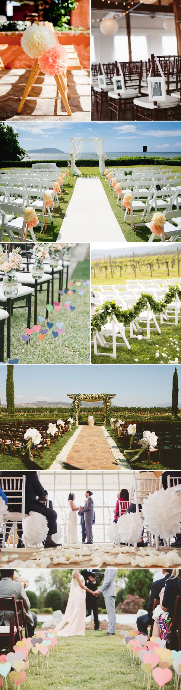 35  Chic Wedding Ceremony Aisle Markers | http://www.deerpearlflowers.com/35-chic-wedding-ceremony-aisle-markers/