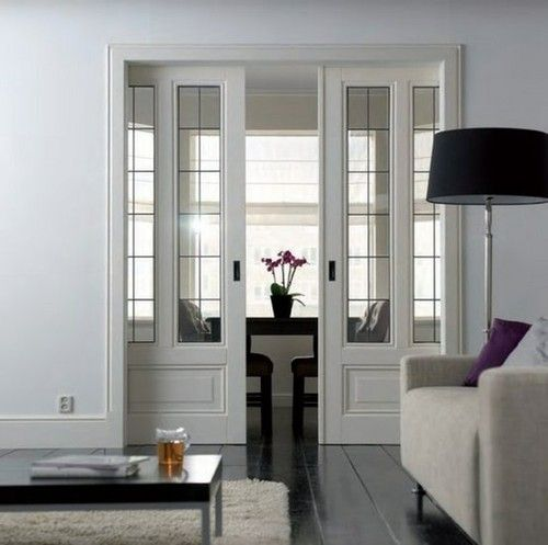 A Good Idea Way To Add Quiet E Without Having Whole Room Love Those Gl Pocket Doors Could Do This From Closet Bay Windo