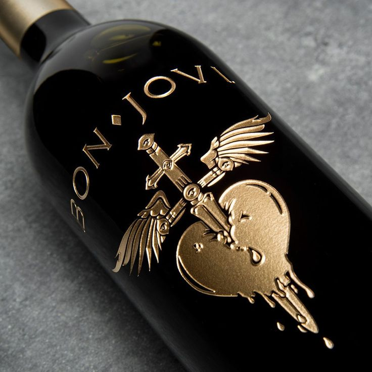 Official Bon Jovi Greatest Hits Collectible Etched Wine