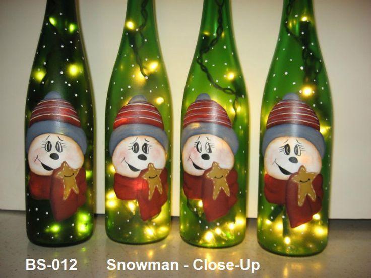 Beer Bottle Decoration 137 Best Painted Bottle Art Snowmen Images On Pinterest