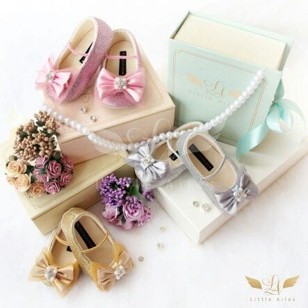 Little Ailes  baby shoes sparkling season vol. 1 ribbon series available in 3 colors