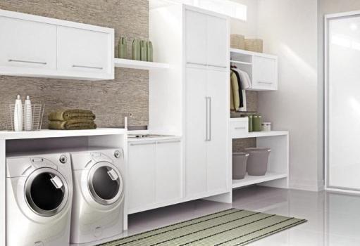 Decoração de lavanderia pequena 2