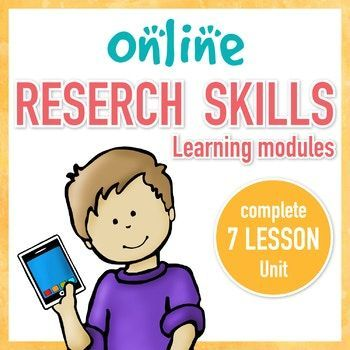 Research Skills are critical for today's students. This complete 7 lesson unit will teach your upper elementary or middle school students everything they need to be successful online researchers. Updated 9/17/17 with an answer key. The 7 lessons include