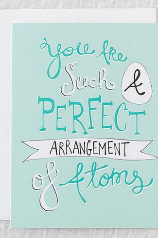 Perfect Atoms Valentine's Day Card