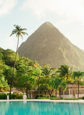 Poolside at Sugar Beach Hotel in St Lucia