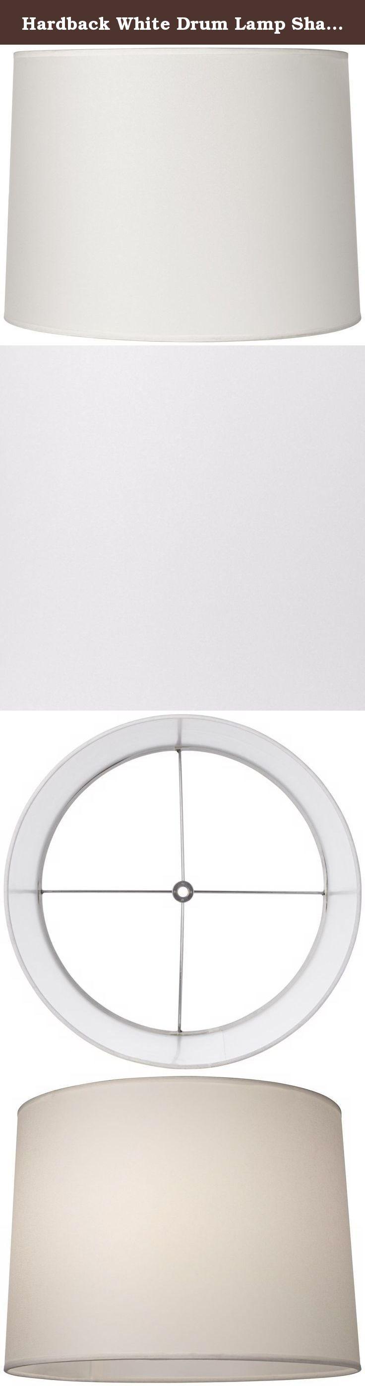 Table lamp harp sizes - Hardback White Drum Lamp Shade 13x14x10 Spider This Contemporary Hardback White Drum Shade