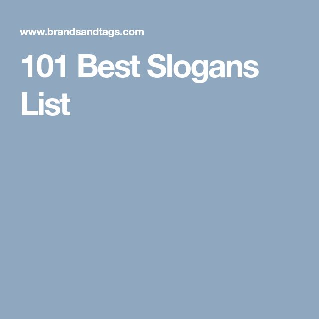 101 Best Slogans List
