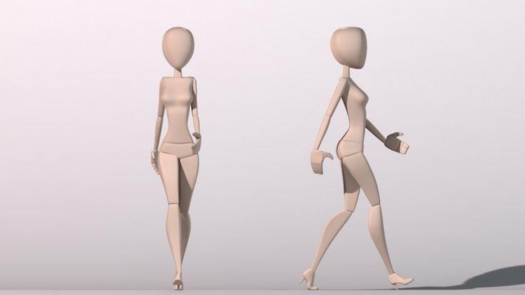 Female Walk Cycle Animation Let Me Jerk 1