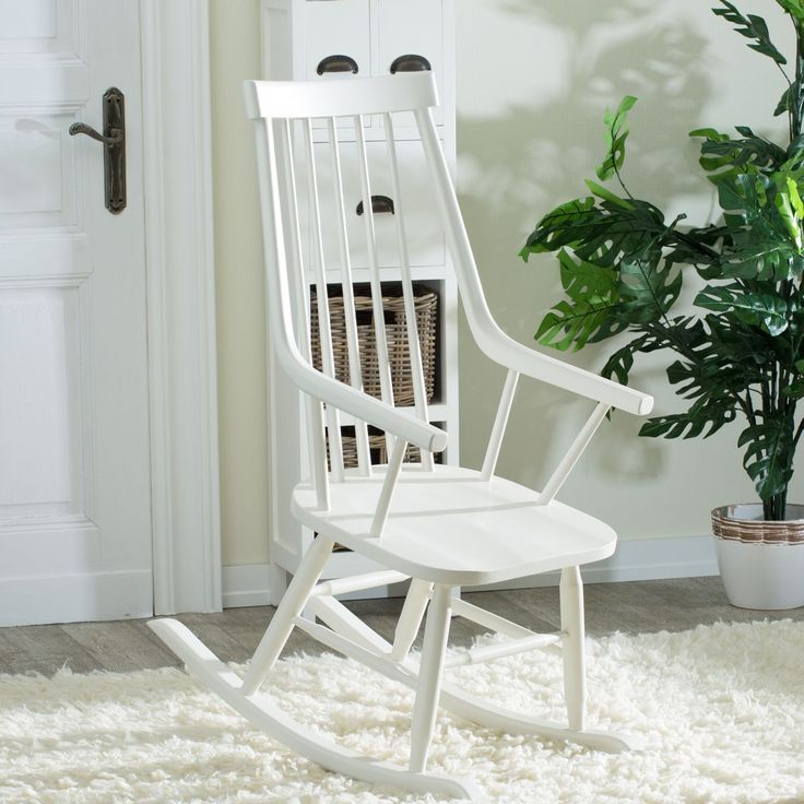 Fotel bujany Henry white, 54x44x114cm - Dekoria #white #meble #biale #furniture #interior #idea #design