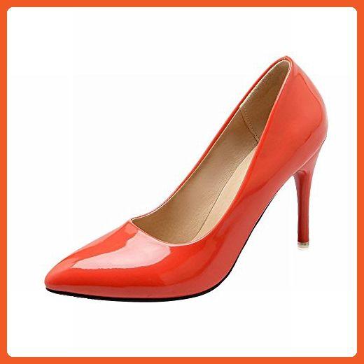 Latasa Women's Fashion Pointed-toe Stiletto High Heel Pumps (13, orange) - Pumps for women (*Amazon Partner-Link)