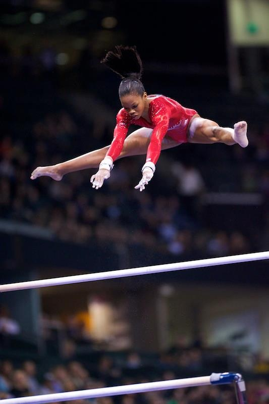 Gabby Douglas-her bars are insane, hoping she goes to London!