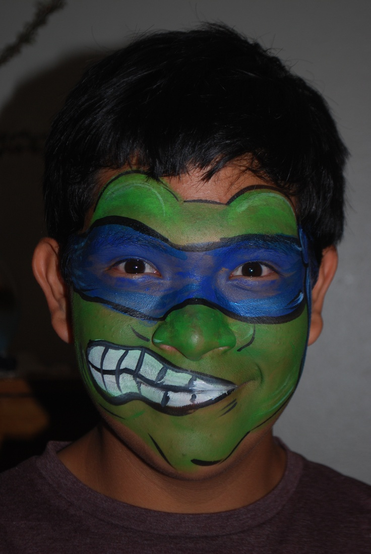 1000+ Images About Funny Face Paint On Pinterest | Ninja Turtles For Kids And Halloween Makeup