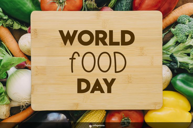 World Food Day is celebrated every year around the world on 16 October in honor of the date of the founding of the Food and Agriculture Organization of the United Nations in 1945.  World Food Day, Food