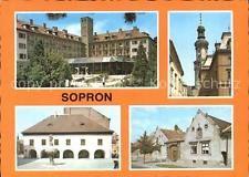 72406897 Sopron Teilansichten Gebaeude Kirche Brunnen Oedenburg
