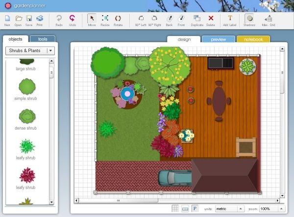 Kostenlose Hinterhof Designtools Fur Computer Tablets Und Smartphones Gartengestaltung Online Gartenplaner Garten Planen