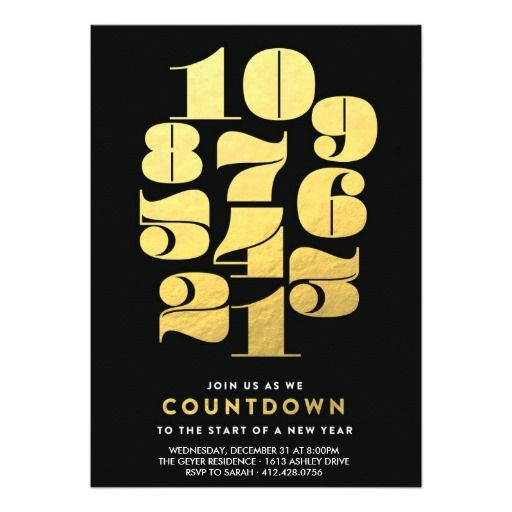 Countdown - New Years Eve Party Invitation