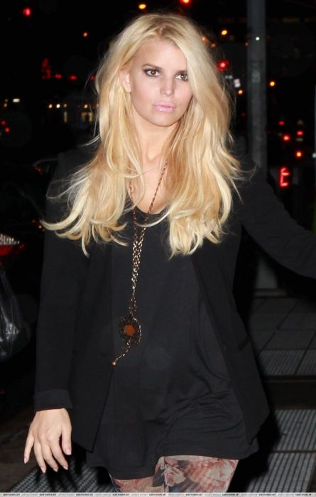 ♔ Janaes Style --floral stockings, black dress and blazer.  Jessica Simpson