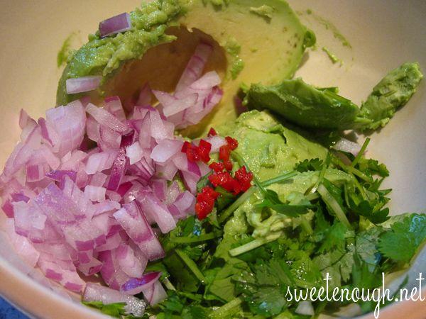 Making fresh Guacamole