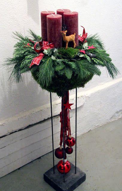 Bloemschikken Rosalie: Bloemschikken Advent en Kerst 2015 - 1. Advent